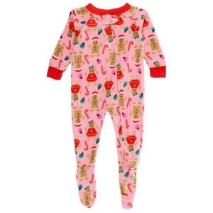 Quacker Jack Pink Gingerbread Candy Fleece Pajamas